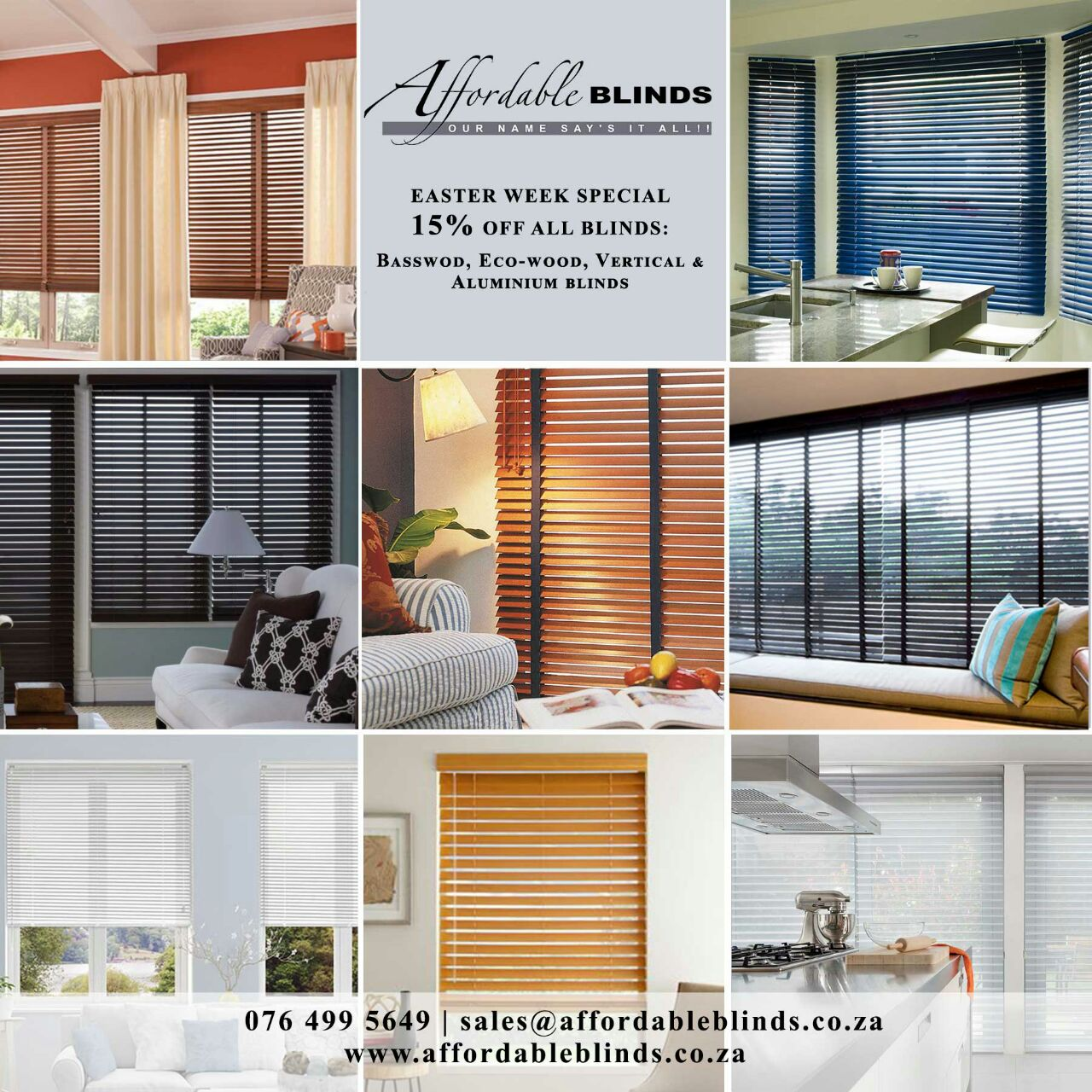 15% Off All Blinds